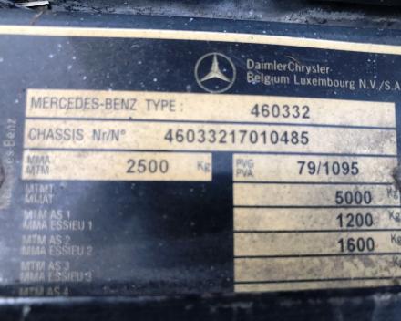 MERCEDES G300 DIESEL OLDTIMER 29/01/1981  40,314 KM