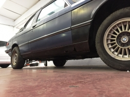 VERKOCHT  BMW E21 323I BAUR  TE RESTAUREREN