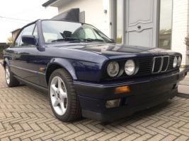 "VERKOCHT   BMW ""E30"" 318I  * CABRIOLET * BLAUW METAAL * LEDER INTERIEUR * ALU VELGEN * GEKEURD * GARANTIE"